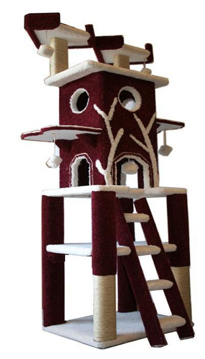 Cat trees cat condos and furniture for your cat for Castle cat tower