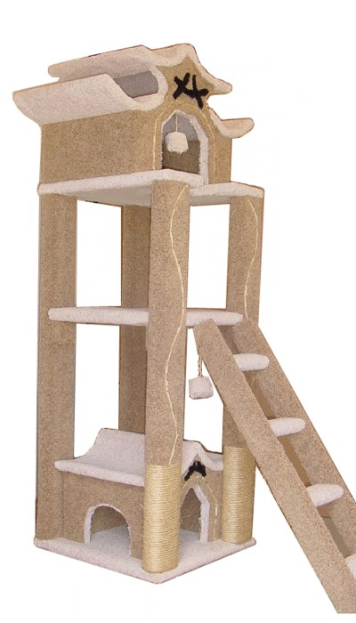 Custom two house pagoda for Cool cat perches