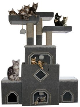 Cat furniture archives for Castle cat tower