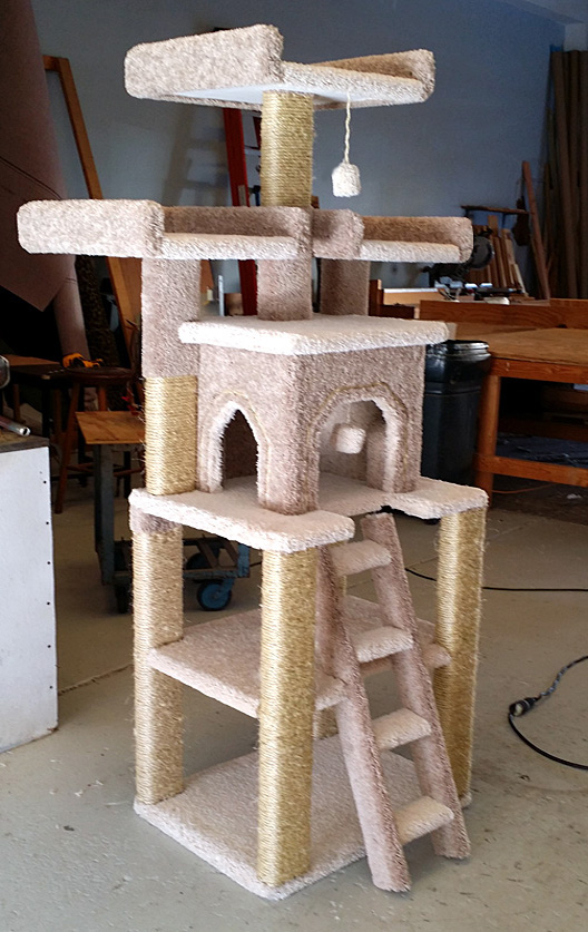 Custom cat trees playtimeworkshop for Pictures of cat trees